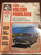 FORD FALCON FAIRLANE SP. WORKSHOP MANUAL.XY-ZD XA-ZF XB-ZG