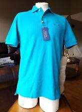 **NEW** Polo Ralph Lauren Men's Small Deep Aqua Classic Polo Shirt 100% Cotton