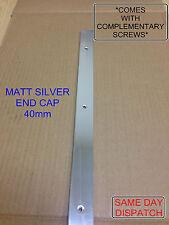 MATT SILVER Kitchen Worktop Edging Trim END CAP 40mm *WITH MATCHING SCREWS*