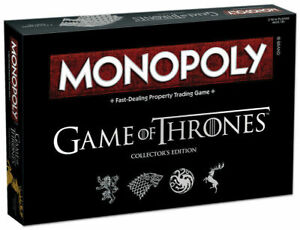 Monopoly Game Of Thrones Collector's Edition Family Party Board Game Cards Play