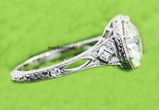 Ring 925 Sterling Silver All Size 2.56 Ct Near White Moissanite Engagement