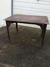 Unique Vintage Industrial Cast Iron Welding Table.