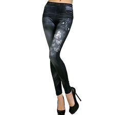 Damen Hose Leggins Leggings Jeggins Jeans Look Stretch Röhre Slim Damenhose NEU