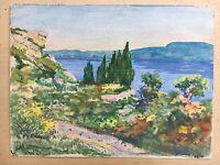 FRENCH IMPRESSIONIST Coast Côte D'azur Provence-Alpes-Côte