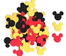 120 Mickey Mouse Die Cuts, Mickey Mouse Silhouette Heads Confetti, 1-inch