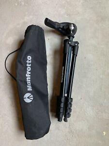 Manfrotto Tripod Kit Used Fold & Extend Used In Case Nice Clean Shape Small
