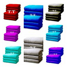 6 X Super Jumbo Bath Sheets Egyptian Combed Towels Extra Large Size !!!