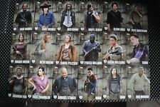 THE WALKING DEAD SEASON 5 BASE SET TRADING CARDS CHARACTER PROFILES C1-C18 SET
