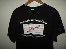 Pinnacle Airlines Tee - Colgan Air 2010 Debt Obligation Check Black T Shirt XLrg