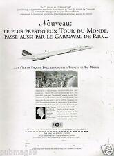 Publicité Advertising 1996 Avion Concorde Tour du Monde avec TMR