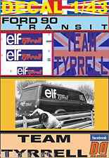 DECAL 1/43 FORD TRANSIT TEAM TYRRELL ELF (01)