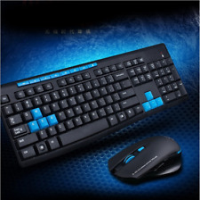 2.4GHz Wireless Gaming Gamer Keyboard & Mouse Combo For Desktop PC Laptop