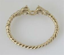 New Stella & Dot Chimera Dual Lion Head  Bangle Bracelet