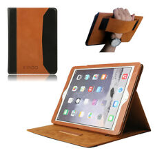 "Brown 100% Genuine Leather Case Sleep/Wake Smart Cover for Apple iPad 9.7"" 2017"