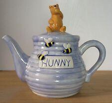 Disney Treasure Craft Teapot Winnie The Pooh Hunny Light Blue Ceramic