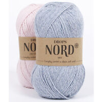 Drops NORD Soft and durable in alpaca, wool and polyamide fingering yarn in 50 g