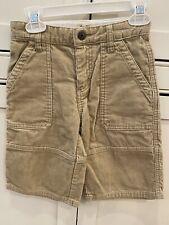 OshKosh B'gosh Beige Corduroy Cargo Shorts Boys Size 5 EUC
