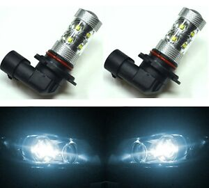 LED 50W 9006 HB4 White 6000K Two Bulbs Fog Light Lamp Plug Play Replace OE