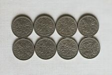 8 coins: each 1953-1960 Lucky Sixpence UK GB Six (6) Pence Queen Elizabeth II