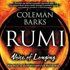 Rumi : Voice of Longing by Jalal al-Din Rumi & Coleman Barks (2002, CD) NEW!