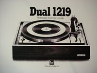 DUAL 1219 TURNTABLE OWNER'S MANUAL 14 Pages