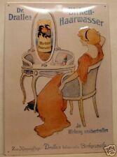 Dr. Dralle Birken Haarwasser - Blechschild 35x50cm Werbung Reklame Werbeschild