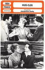 FICHE CINEMA : HUIS-CLOS - Arletty,Villard,Audry 1954 (No Exit)