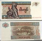 BIRMANIE maintenant MYANMAR Billet neuf de 5 KYATS Pick70b