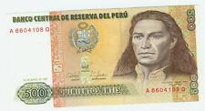 500 peru banknotes ebay peru banknote geld geldschein 500 quinientos intis 1987 thecheapjerseys Image collections