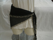 Egyptian Black Belly Dancing Triangle Hip Belt Row Of Beads All Around #13