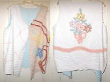 Lovely Handmade Vintage Chenille Lined Vest  2X 3X New2