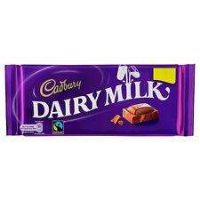 CADBURY DAIRY MILK CHOCOLATE BARS: FULL BOX of 17 x 95g BARS