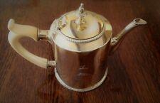 ANTIQUE ENGLISH GEORGIAN  STERLING SILVER GILT TEA POT LONDON 1771