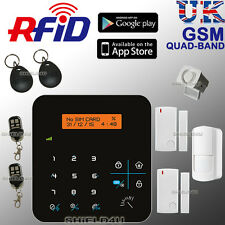 LCD WIRELESS GSM RFID ANTICENDIO Office Home Casa Sicurezza Allarme Antifurto intruso