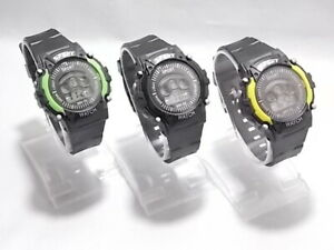 Children kids boys girls sports watch wristwatch digital dial light system UK