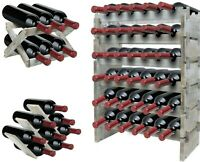Rustic Wood Wine Racks - Floor Freestanding & Countertop Wine Holder Storage
