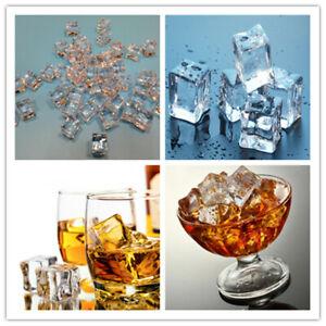 10PCS 2CM Acryl Ice Cubes Wedding Party Display Künstlich kristallklar Dekor