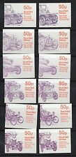 Cars Great Britain Folded Stamp Booklets (1976-2000)