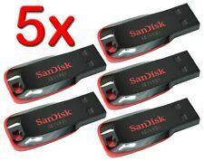 LOT 5 x SanDisk 8GB = 40GB Cruzer BLADE USB Flash Pen Drive 5x 8 GB SDCZ50-008G