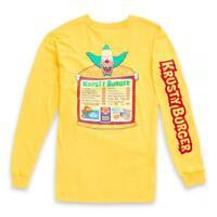 The Simpsons X VANS Krusty Burger Men L Yellow Long Sleeve T Shirt Graphic NEW