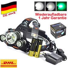 Jagd Fackel XM-L T6+2xGRÜN LED Stirnlampe Rechargeable Kopflampe 18650 Ladegerät