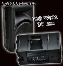 30cm AKTIV Lautsprecher 2-Wege Monitor-Box 800 Watt  DJ PARTY DISCO b-ware
