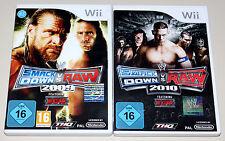 2 WII SPIELE SET - SMACKDOWN VS RAW 2009 & 2010 - NEUWERTIG - WRESTLING ECW