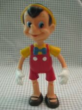 "Vintage 1950s Pinocchio Plastic Doll Walt Disney Productions 5.5"" and Jointed"