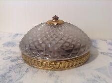 Vintage French Plafonnier Cut Glass Ceiling Light