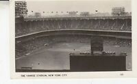Postcard NY New York City c1940s The Yankee Stadium RPPC Real Photo Baseball