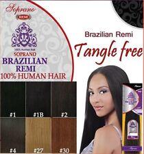 "SOPRANO Brazilian Remi Yaki 14""-JET BLACK(1) 100% Human Weaving HAIR"