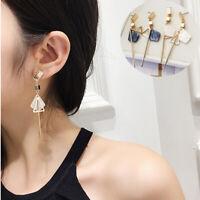 Fashion Women Geometric Shape Earrings Drop Dangle Ear Stud Line Jewelry Gift
