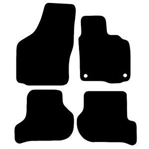 Skoda Octavia 2008 - 2013 Tailored Black Car Floor Mats Carpets 4pc Set