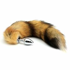 High Quality Faux Fur Fox Tail Toy With Stainless Steel Plug Cosplay Accessories